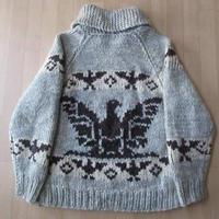 サンダーバード ショールカラー カウチン セーター ニット S M【deg】