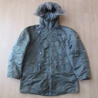 90's USA製 ALPHA INDUSTRIES N-3B ジャケット S MA-1 ブルゾン【deg】
