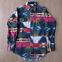 90's Wrangler ネイティブ柄 ウエスタン ネル シャツ ラグマット【deg】