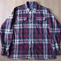 90's POLO SPORT チェック柄 ネルシャツ M RALPH LAUREN 星条旗【deg】