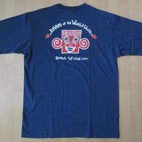 80's 90's 日本製 Mark Wigan オールド TOTAL ART Tシャツ L ネイビー マ−ク ウィガン ポップ アート POPクラブRaveレイブ 芸術 現代美術【deg】
