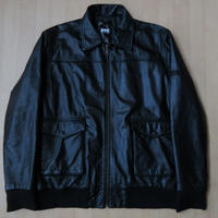 FTC OBAMA BLACK A-2 ラム レザー 中綿 ジャケット L黒 ブラック FOR THE CITY エフティーシー 本革 ブルゾン