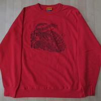 USA製 One's Garment GOOD ON バイカー ラグラン フリーダム スリーブ スウェット L レッド系 グッドオン トレーナー MADE IN GOODON【deg】