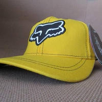 90's FOX RACING スナップバック キャップ イエロー系 フォックス レーシング CAP帽子 ハット SHIFT シフト オフロード バイク モトクロス【deg】