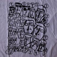 ドナルド バチェラー FOTOFOLIO CROWD Tシャツ M ホワイト コットン100% Donald Baechler 画家 彫刻家 アート ART芸術 現代美術 美術館【deg】