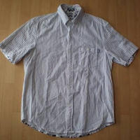 STUSSY ストライプ柄 半袖 シャツ ステューシー M ショーンステューシー【deg】