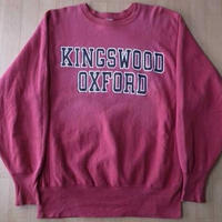 90's USA製 CHAMPION 刺繍タグ KINGSWOOD OXFORD カレッジ ロゴ リバースウィーブ スウェット L チャンピオン REVERSE WEAVE 【deg】