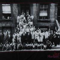 90's Art Kane FOTOFOLIO Harlem 1958 フォト Tシャツ M 黒JAZZジャズBlakey Count Basie Thelonious Monk【deg】