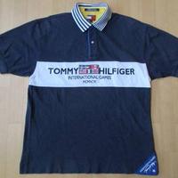 90's TOMMY HILFIGER INTERNATIONAL GAMES 1996 刺繍 国旗 パッチ ポロシャツ M トミーヒルフィガー セーリング USA星条旗【deg】