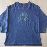 SSUR 薄手 スウェット フットボール 七分袖 カットソーM Tシャツn【deg】