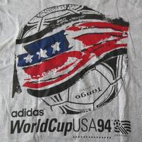90's USA製 アディダス 1994 FIFA ワールドカップ 星条旗 サッカーボール Tシャツ L adidas アメリカ サッカーWorld Cup ビッグシルエット【deg】