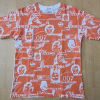 90's 1点物 原宿 マービンズ 手刷り 総柄MOVIE Tシャツ M MARVIN'S 半沢和彦 ビンテージ 古着屋 007 ゴールドフィンガー Audrey Hepburn【deg】