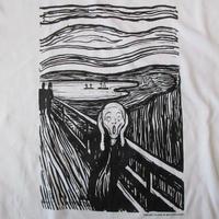 90's USA製 エドヴァルド ムンク FOTOFOLIO The Scream ムンクの叫び Tシャツ 1416 白 Edvard Munch 叫び ノルウェー 画家 芸術【deg】