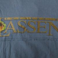 90's USA製 THE LASSEN COLLECTION THE ART OF Tシャツ Mブルー グレー系 クリスチャン ラッセンChristianマリン アート 海【deg】
