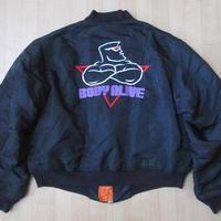 2000年USA製 ALPHA INDUSTRIES 刺繍MA-1 ジャケットL黒 ブルゾン 【deg】