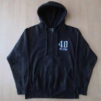 フォーティーオンス エヌワイシー フルジップ パーカー M ブラック 黒 40oz NYC フード スウェット トレーナー New York City HIP HOP【deg】