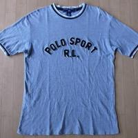 90's POLO SPORT パッチ リンガー Tシャツ M RALPH LAUREN USAn【deg】