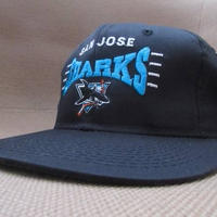 90's San Jose Sharks キャップ 黒 CAP サンノゼ シャークス NHL ベースボール【deg】