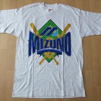80's 90's USA製 Mizuno オールド ベースボール TシャツL XL位 アッシュグレー系 ミズノ 水野 ヴィンテージ 野球MADE IN U.S.A.アメリカ製【deg】