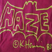 HAZE LTD オールド Keith Haring BAT LOGO Tシャツ キッズ M エリック ヘイズEric キース へリング コラボ グラフィティ ART 現代美術【deg】
