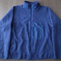 2001年 カナダ製 パタゴニア レトロX フリース ジャケット L パープル+グレー系 PATAGONIA Retro Cardiganレトロカーディガン クラシック【deg】