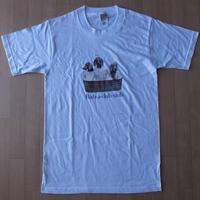 90's William Wegman Weimaraner Rub-a-dub-dub フォト Tシャツ S 白 ウィリアム ウェッグマン FOTOFOLIO ワイマナラー犬【deg】