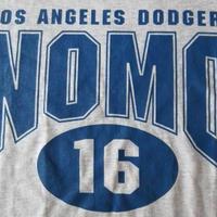 90's USA製 ロサンゼルス ドジャース 野茂英雄 #16 Tシャツ L グレー Los Angeles Dodgers LA Hideo Nomoメジャーリーグ ベースボール【deg】