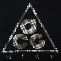 NIKE ACG チェック柄 デルタ ロゴ DRI-FIT Tシャツ L 黒 ナイキ All Conditions Gear オール・コンディションズ・ギア 速乾性 カットソー【deg】