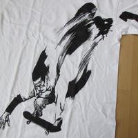 90's ダブリュー ケー インターアクト FOTOFOLIO 残像 スケーター TシャツS白WK interactスケートボード グラフィティBanksy芸術ART美術館【deg】