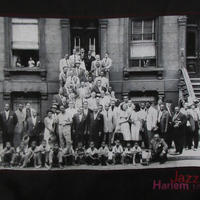 90's Art Kane FOTOFOLIO Harlem 1958 フォト スウェットL JAZZジャズBlakey Count Basie Charles Mingus【deg】