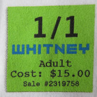 00's USA製 Whitney Museum of American Art ホイットニー 美術館 チケット Tシャツ L 白Gertrude Vanderbilt芸術 現代美術【deg】