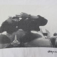 00's STUSSY Josh Cheuse コラボ Joe Strummer フォト TシャツXL白 ステューシー ジョー ストラマー The Clashクラッシュ