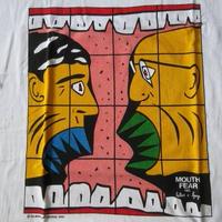 90's スペイン製 ギルバート&ジョージ MOUTH FEAR 1983 Tシャツ XL 白 Gilbert Prousch and George Passmore ホワイト【deg】