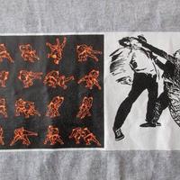 90'sダブリュー ケー インターアクト 相撲BOXロゴTシャツL グレー ボックスWK interact芸術ART現代美術 グラフィティBanksyバンクシー【deg】