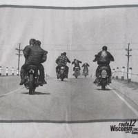 90's ダニー・ライアン FOTOFOLIO ROUTE 12 フォト Tシャツ L 白 DANNY LYON The Bikeriders バイカーズ バイク 写真家 ART【deg】