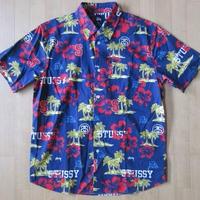 STUSSY Hawaiian Sport 半袖 シャツ S アロハ ハワイアン サーフ ショーン・ステューシー【deg】