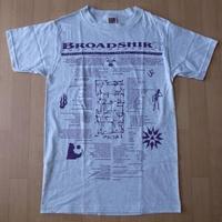 90's USA製 BROADSHIRT POETRY MAGAZINE 1995 Tシャツ S ポエトリー マガジン ビートニク beatnik Allen Ginsberg芸術【deg】
