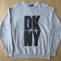 90's USA製 DKNY NYC 刺繍 前V スウェット L トレーナー JEANS ダナキャラン ディーケーエヌワイ【deg】