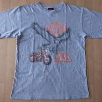 ハーレーダビッドソン イーグル バイク Tシャツ M〜L位 ヘザーグレー Harley‐Davidson ロゴ 半袖 カットソー バイク バイカー ツーリング【deg】