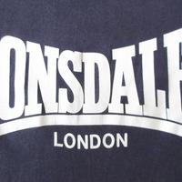 80's 90's LONSDALE LONDON ロゴ Tシャツ S M位 ネイビー ロンズデールThe JamロンドンThe Style Councilモッズ【deg】