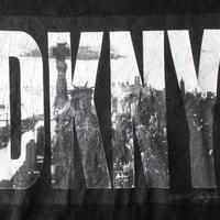 90's USA製 DKNY 自由の女神 フォト BOXロゴ Tシャツ M ビッグシルエット ボックスNYC写真JEANSオーバーサイズ L XL 星条旗 SUPNY元ネタ【deg】