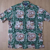 90's 00's POLO SPORT アロハ シャツ M RALPH LAUREN ハワイアン【deg】