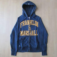 イタリア製 FRANKLIN&MARSHALL フルジップ パーカー Sスウェット【deg】