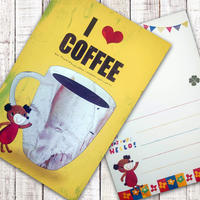 ポストカード  I LOVE COFFEE(コーヒー)