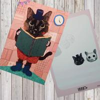 ポストカード 醤油ちゃん(黒猫)