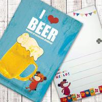 ポストカード  I LOVE  BEER(ビール)