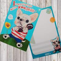 ポストカード Telephone-White-french-bulldog(フレンチブルドッグ)