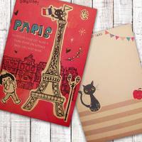 ポストカード  PARIS RED