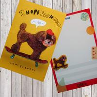 ポストカード   sketer-poodle(トイプードル)