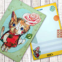 ポストカード  バラ猫